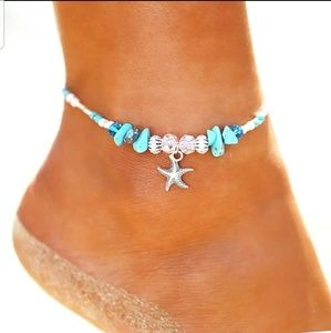 Shell starfish ankle bracelet